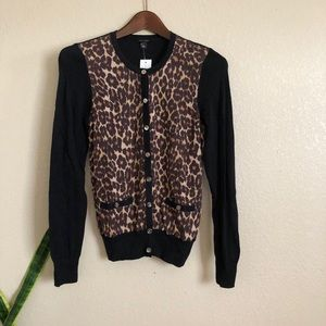 Ann Taylor || $98 Leopard Cheetah Cardigan Sweater